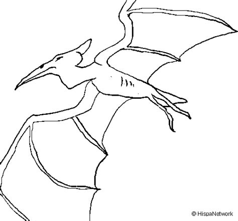Colored Page Pterodactyl Ii Painted By Nate Did This Pterodactyl Coloring Pages