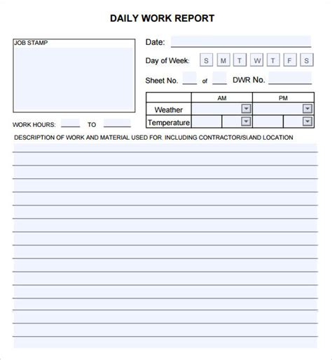 daily report 7 free pdf doc sle templates