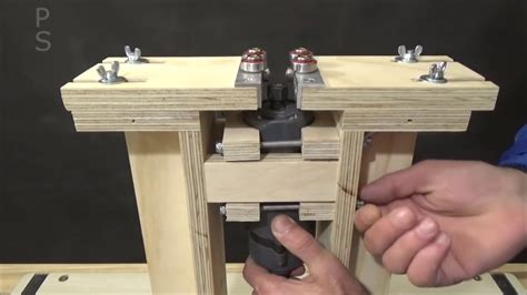 face grooving machine homemade router jig