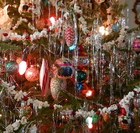 old fashioned icicle christmas tree brings back special