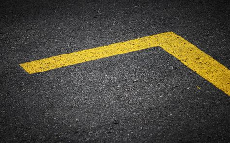 pattern of yellow lines on the roadway road marking with yellow lines stock image image of