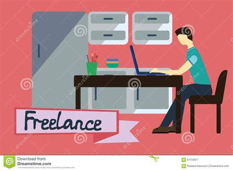 freelance illustration stock illustration image 61103917