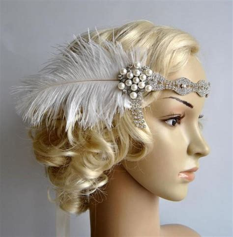 how to make a great gatsby headpiece rhinestone headband headpiece with feathers great gatsby