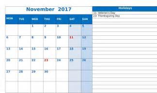 november 2017 printable calendar templates printable