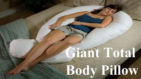 comfort u total body pillow long giant total body pillow comfort u youtube