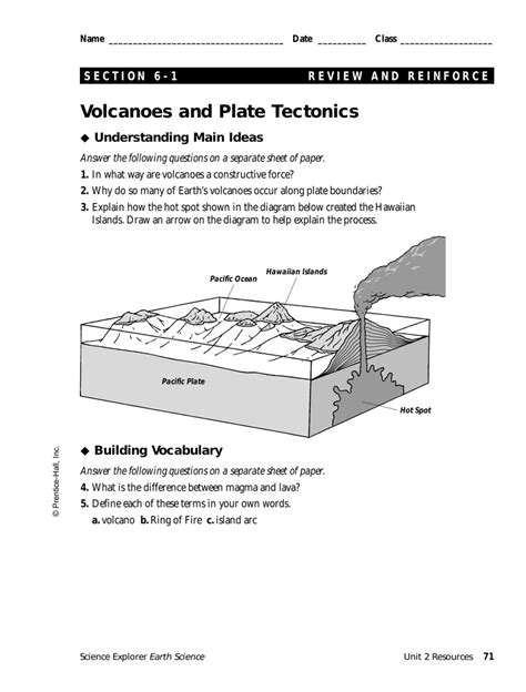 Volcanoes And Plate Tectonics Worksheet collection of volcanoes and plate tectonics worksheet