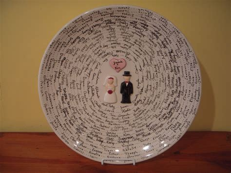 ceramic bowl diy wedding paint your own pottery guest book using a glaze pencil