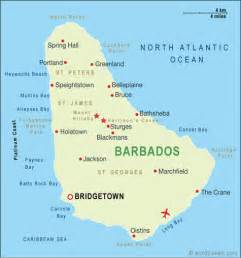 Barbados World Map by North America Maps Map Pictures