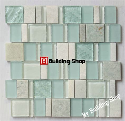 aliexpress buy blue green glass mosaic tile