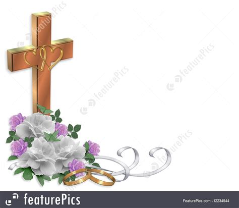 Wedding Bible Clipart by Wedding Border Christian Cross Illustration