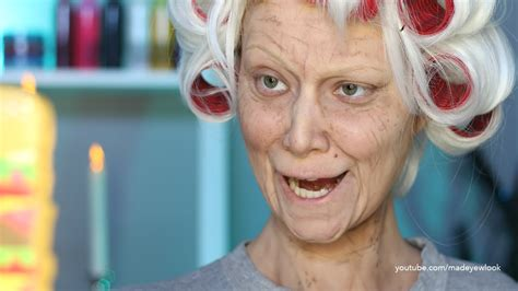 old lafy hair styles for deess up old lady lex old age makeup tutorial no prosthetics no