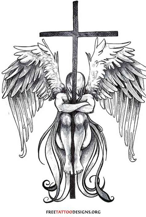 angel and cross tattoo picmia