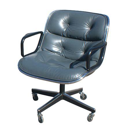 Vintage Leather Knoll Pollock Executive Swivel Chair Ebay Swivel Chair Ebay