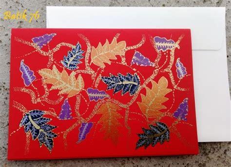 Kartu Ucapan Handmade Batik76 Motif 1 jual kartu ucapan handmade motif alur merah size l kartu ucapan batik kartu ucapan ulang