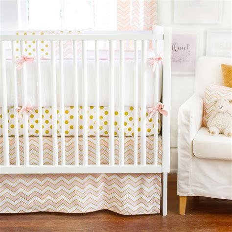 pink and gold nursery bedding pink and gold crib bedding inspiration