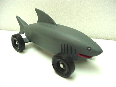 pin pinewood derby shark template on