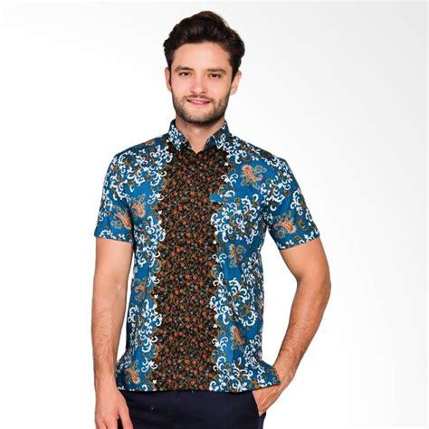 Baju Kemeja Batik Pria Slim Fit Modern Lengan Pendek Ob 369 jual adiwangsa model slim fit modern baju kemeja batik pria 014 harga kualitas