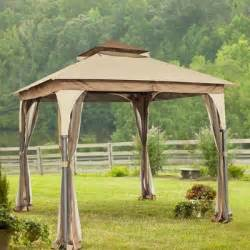 8 Ft Canopy by 8 X 8 Ft Outdoor Steel Gazebo W Netting Curtains Patio