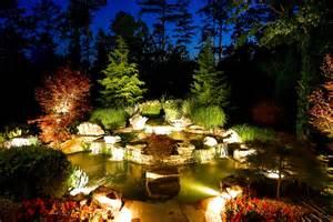 pond lighting artistic landscapes