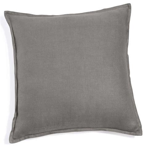 futon 60x60 grey washed linen cushion 60x60 maisons du monde