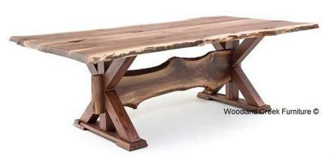 rustic  edge dining table  woodland creek furniture