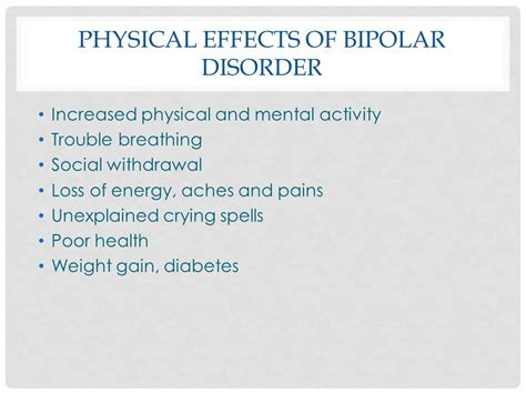Physiological Effects Of Detox by Bipolar Disorder And How It Affects Everyday Ppt