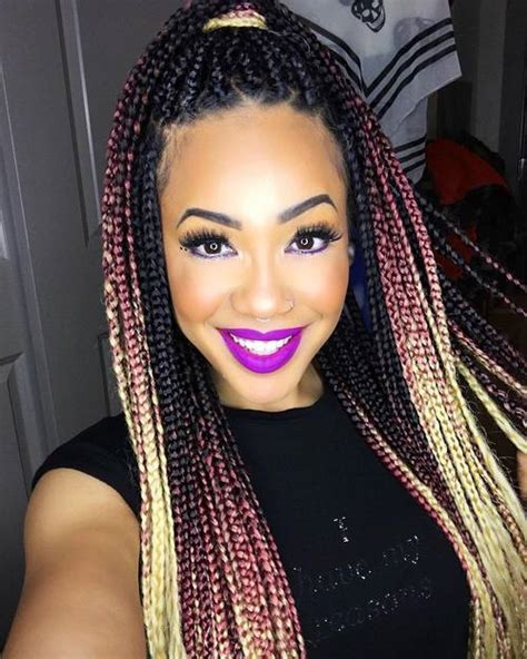 single braids with color 50 exquisite box braids hairstyles that really impress