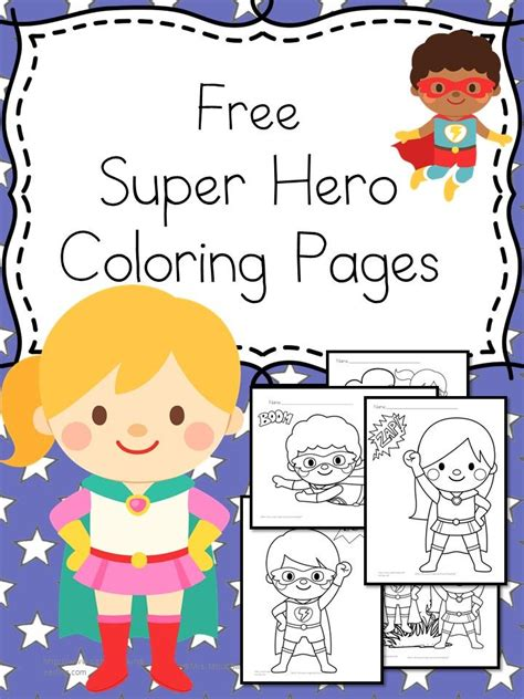 superhero coloring pages preschool free superheroes coloring pages activities kindergarten