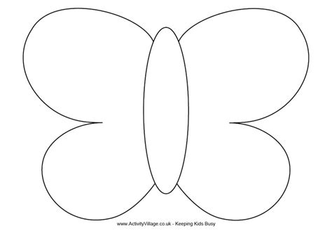 butterfly template printable butterfly template free printables