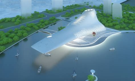 opera house design concept proposed opera house in busan features a cantilever overlooking the bay evolo