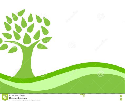 Abstract Green Eco Tree Background Stock Vector Image 24451550 Green Eco Tree Vector Free