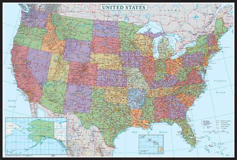 map usa poster swiftmaps united states decorator wall map poster