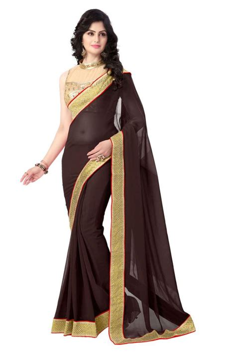 Blouse Designs For Heavy Sarees by Viscose Saree With Heavy Designer Lace Border
