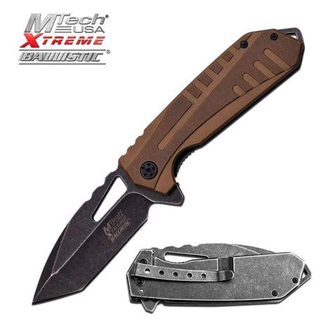 self assist knife mtech tactical assist folding knife desert