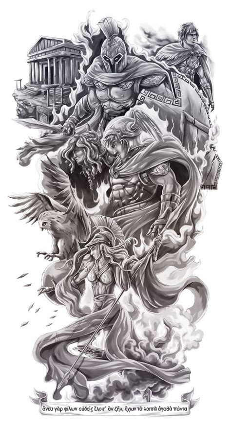 greek mythology sleeve tattoo designs best 25 zeus ideas on zues