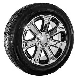 Truck Wheel And Tire Pictures 22 Chrome Chevy Truck Silverado Tahoe Wheels Rims And Tires