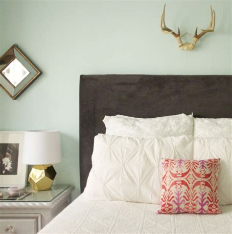 easy diy upholstered headboard diy upholstered headboard the everygirl