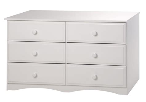 6 Drawer Dresser White by Essentials Six Drawer Dresser White Finish