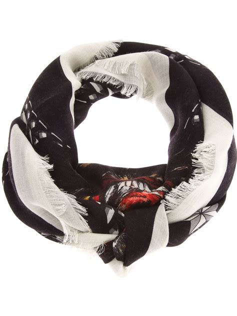 givenchy rottweiler scarf givenchy rottweiler scarf in black lyst