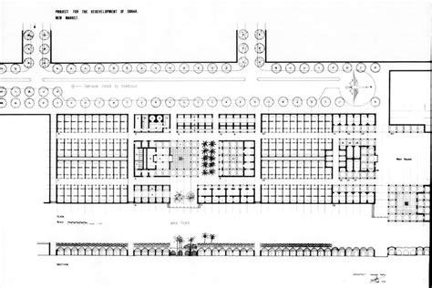 market floor plan sohar remodelling design drawing new market ground