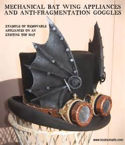 This is a quot standard quot felt top hat with a strap on bat wing appliance