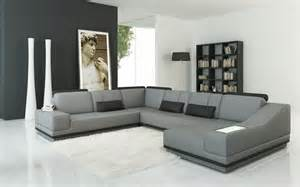modern leather sectional sofas contemporary leather