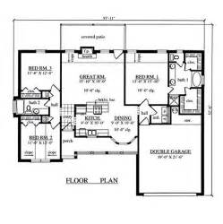 3 bedroom floor plans with garage 1504 sqaure 3 bedrooms 2 bathrooms 2 garage spaces 57 11 34 width 52 6 34 depth floor plan