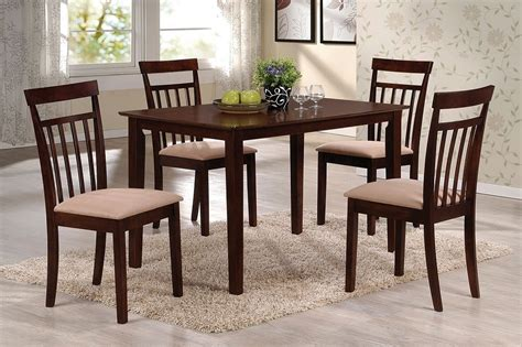 samuel dining table samuel 5pcs espresso wood dining table set
