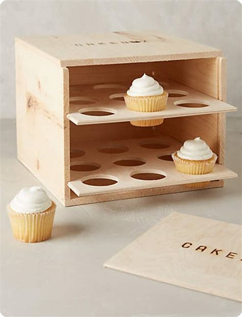 How To Make A Cupcake Box Out Of Paper - wood cupcake carrier box