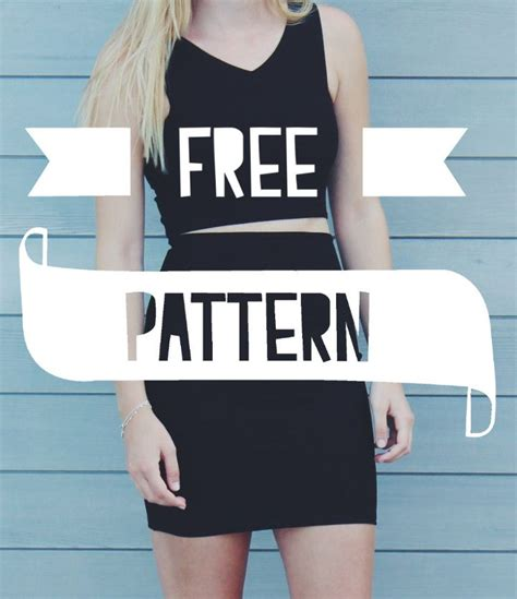 sewing pattern crop top me sew crop top and high waisted skirt free patterns
