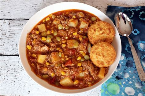 brunswick stew  potatoes corn  lima beans