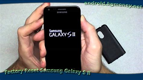 factory reset samsung galaxy  ii epic  youtube