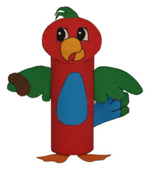 Dltk Toilet Paper Roll Crafts - parrot toilet paper roll craft