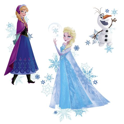 Home Design Bedding by Roommates Frozen Anna Elsa And Olaf Peel And Stick Giant